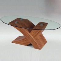 Wholesale Coffee Table with 8mm Tempered Glass Thickness, MDF and Printing from china suppliers