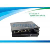 Wholesale DF SM 1310nm 20KM Power Over Ethernet POE 100BASE - Fx 4 Port 10 / 100BASE - Tx  SC from china suppliers