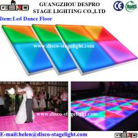 Wholesale Flash DJ LED Stage Effetc Light Pink Wedding Dance Floor Lighting 220V 50Hz from china suppliers