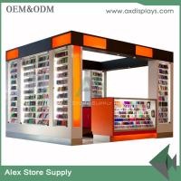 Buy cheap Mobile display cabinet glass display counter shop furniture mall kiosk display from wholesalers