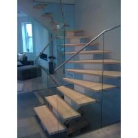 Buy cheap open riser staircase / metal outdoor stair case / wooden trade stairs from wholesalers