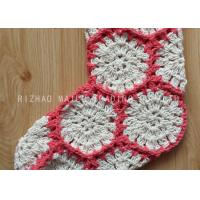 Wholesale Hexagon Knitted Christmas Tree Ornaments White And Red Crochet Christmas Stockings from china suppliers