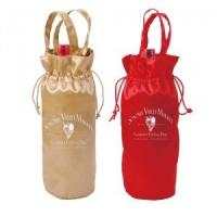 Buy cheap Customized Satin Drawstring  Pouch Wine Gift Bags With Printed Logo Eco-Friendly from wholesalers