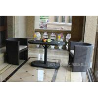 Wholesale PE Wicker Bar Table And Chairs , All Weather Patio Furniture For Coffee from china suppliers