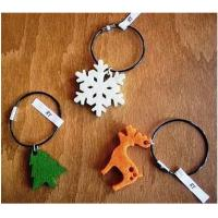 Wholesale high quality factory custom logo shaped wholesale felt keychain from china suppliers