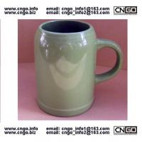 Wholesale wholesale green beer mug ceramic beer mug custom colors LOGO 500ML beer mug from china suppliers
