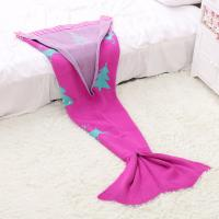 Quality 2016 Christmas Gift 100% Acrylic Mermaid Blanket for Children for sale