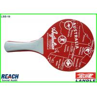 Wholesale Customized Red Padel Racket Wooden Beach Rackets For Supermarket from china suppliers