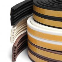 Wholesale Flexible medium density sponge silicone rubber flat seal strip from china suppliers