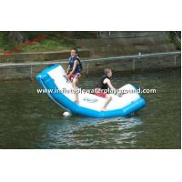 China Safety Funny Inflatable Water Totter Toy , Inflatable Water Rocker On Water on sale