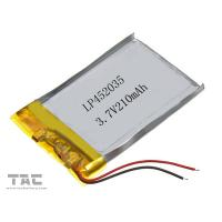 Wholesale 3.7 Volt 210 MAH Li Ion Polymer Battery , Gsp452035 Li - Polymer Battery Pack from china suppliers