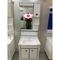 Wholesale wall PVC Bathroom Cabinet / Single Bowl Bathroom Vanities with mirror 60cm from china suppliers