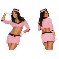 Wholesale Pink Double Breasted Holiday Party Adult Costumes With Hat Top Skirt Gloves from china suppliers