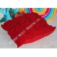 Wholesale Red Multi - Rose Hand Made Square Poufs And Ottomans Covers Jacquard Style from china suppliers