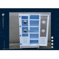 Wholesale Two Full Door Safety Storage Cabinets , 2 Glass Door Flammable Liquid Cabinet from china suppliers