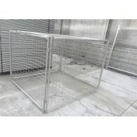 Wholesale Customized Galvanised Steel Rubbish Cage HDG 14 Microns / 42 Microns from china suppliers