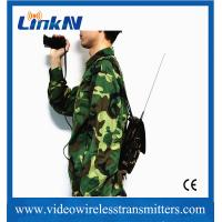Buy cheap HD Body Worn COFDM Video Transmitter UHF Digital Microwave Low Latency 150ms from wholesalers