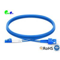 Wholesale 1m SC UPC to LC UPC Duplex OS2 Single Mode Armored PVC (OFNR) 3.0mm Fiber Optic Patch Cable from china suppliers