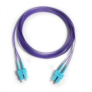 Wholesale Corning Fiber SC/PC-SC/PC OM4 Duplex Purple Color Fibre Optic Patch Cord from china suppliers