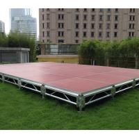 Wholesale Fast Install, Good loading Capacity, Brown Red Aluminum Plywood Portable Stage from china suppliers