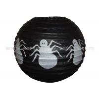 Wholesale Spider Patterned Printed Round Paper Lanterns from china suppliers