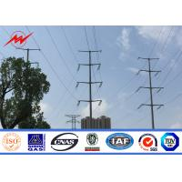 Wholesale Construction Conical Steel Tubular Transmission Line Poles With ASTM A123 Galvanizing from china suppliers