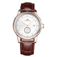 Wholesale Elegant Business / Casual Men Watch With Genuine Leather Strap , Mineral Glass from china suppliers