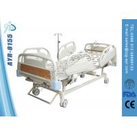 Wholesale Adjustable Powder Coating Manual Hospital Bed Double Functions Nursing Bed from china suppliers
