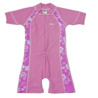 Wholesale BONZ Girls Short Sleeve Pink UV One Piece Zippered Swimsuit from china suppliers