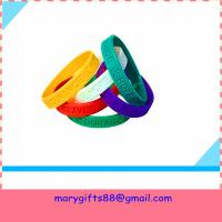 Wholesale wholesale gift fashion silicone wristband bangles from china suppliers