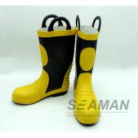 Wholesale Steel Toe Fireman Rubber Boots Fire Fighter'S Equipment EN15090-2012 Safety Shoes from china suppliers
