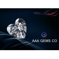 Wholesale 7 MM Enthusiastic Heart  White Moissanite , 4 Carat Moissanite from china suppliers