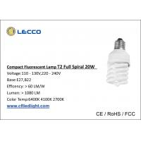 Wholesale T2 20W Fluorescent Compact Light Bulbs E27 With PBT Materials 6400K Daylight from china suppliers