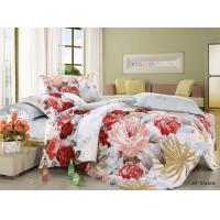 Wholesale Polyester Cotton Blend 4 Piece Bedding Set Embroidered Flower Printed from china suppliers