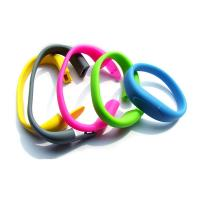 Quality silicone finish bracelet usb pen drive for sale