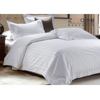 Quality 0.5cm / 1cm / 2cm Hotel Bed Linen Satin  Stripe With Duvet Cover 250 TC / 300TC for sale
