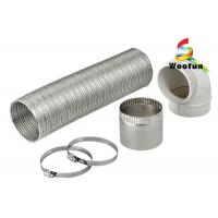 Wholesale Expandable Semi-Rigid Flexible Aluminum Pipe Duct with Clamps for Heater from china suppliers