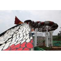 Wholesale Amusement Park Adult Fiberglass Water Slides with Galvanized Carbon Steel Frame from china suppliers