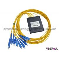 Wholesale 1x8 PON Fiber Optic PLC Splitter With ABS Enclosure And SC/UPC Input & Output Pigtail from china suppliers