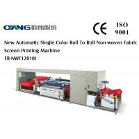 Wholesale Trustworthy High Quality Roll to Roll Screen Printing Machine For Non Woven Fabric from china suppliers