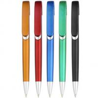 Buy cheap metallic looking click promotional gift logo printed plastic ball pen, logo plastic ball pen from wholesalers