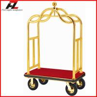 Wholesale Luxury Imperial Crow Roof Luggage Cart for Sale/Hotel Bellman Luggage Cart from china suppliers