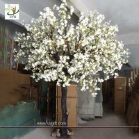 Quality UVG planning a wedding fake white cherry blossom tree for indoor decoration CHR071 for sale