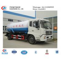 Wholesale factory sale best price dongfeng tianjin 190hp vacuum sewage suction truck, hot sale dongfeng brand sludge tank truck from china suppliers