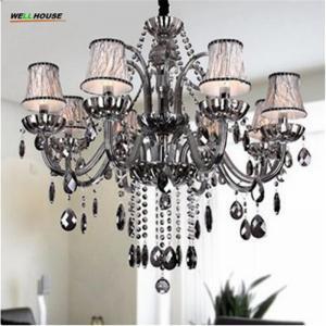 Wholesale Modern led chandelier for home decoration Living room Bedroom Kitchen lustre de cristal K9 crystal lamp chandelier light from china suppliers