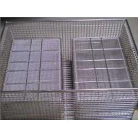 Buy cheap Disinfection Wire Mesh Basket with cap from wholesalers