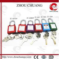 Quality Hot sales colorful 38mm Shackle Xenoy Safety Padlock with key system Lock for sale