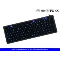 Wholesale IP68 Washable Black Super Slim Silicone Keyboard USB Interface Long Life from china suppliers