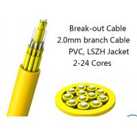 Wholesale 24 Fiber Multimode Fan-Out Indoor Breakout Fiber Optic Cable With High Strength from china suppliers