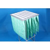 Quality Green F6 Paint Pocket Filters , 6 Bags Air Filter Material 65% Efficiency for sale